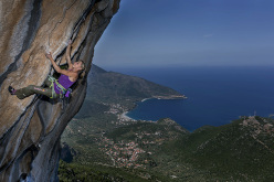 Angela Eiter and the sports climbing at Kyparissi, Greece