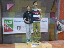 Laura Rogora e Danilo Marchionne, i campioni italiani Boulder 2015
