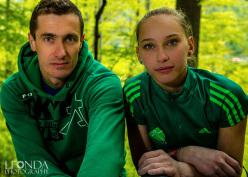 Slovenian team coach and Janja Garnbret