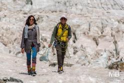 Monte Bianco Sfida Verticale: Caterina Balivo and Simone Moro.