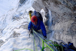 Paul Ramsden during the first ascent of Gave Ding 6571m in Nepal (ED+ 1600m, 7 days), climbed together with Mick Fowler