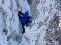 Mick Fowler and Paul Ramsden during the first ascent of Gave Ding 6571m in Nepal (ED+ 1600m, 7 days)