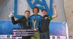 Coppa del Mondo Lead 2015 risultato finale: 2. Gautier Supper 1. Adam Ondra 3. Jakob Schubert