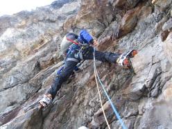 La Divina Providencia, Nevado Churup in Peru (M7, 650m Tomas Franchini, Silvestro Franchini 02/06/2015)