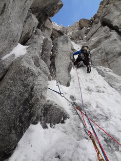 Lachit valley, Tagas mountains, Karakorum, Pakistan: Dream Walker - fun ice gullies