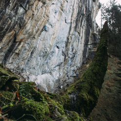 Jacob Schubert making the first ascent of Companion of Change, 9a in the Zillertal, Austria.