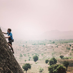 Alex Honnold climbing in Angola