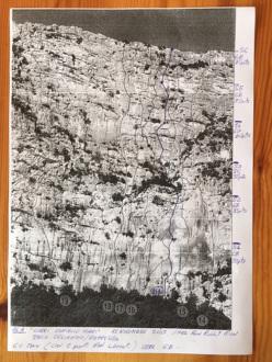 Il tracciato di Corri Coniglio Corri, Monte Oddeu, Supramonte di Dorgali, Sardegna