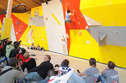 Aleksandra Balakireva from Russia wins the Vienna stage of the Bouldering World Cup 2009.