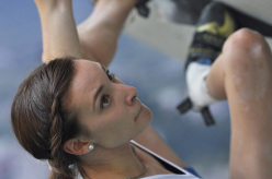 Annalisa De Marco at the 2015 Arco World Youth Climbing Championships
