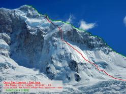 Cerro San Lorenzo, No Fiesta (Dejan Koren, Rok Kurinčič & Boštjan Mikuž, ED+, 1600m 20-21/11/2015).