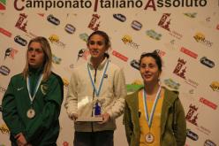 Campionato Italiano Lead 2015: da sx a dx, Jenny Lavarda, Laura Rogora e Asja Gollo.