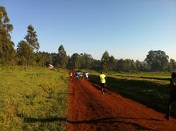 Corrono, belli e leggeri, sfiorando quel suolo rosso che si perde nel sole enorme del Kenya