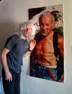 Ivo Ferrari (quello con la parrucca) e il grande vecchio Riccardo Cassin