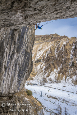 Tom Ballard during the first ascent of 'Je ne sais quoi' D14+, Dolomites