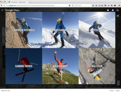 Catherine Destivelle, Patrick Gabarrou, Laetitia Roux, Candide Thovex, Kilian Jornet Burgada and Ueli Steck on the Mont Blanc Google Street View
