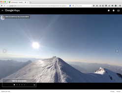 The 360° panorama video of the summit of Mont Blanc, filmed by Corrado Korra Pesce for the Mont Blanc Google Street View project