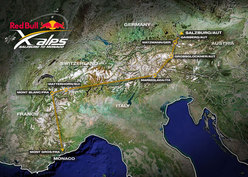 Il percorso del RED BULL X-ALPS 2009