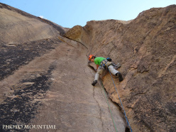 Chad Climbing Expedition 2015: Stefano Angelini climbing