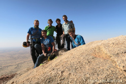 Chad Climbing Expedition 2015: group photo on the summit of Berethé