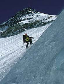 Davo Karnicar skiing down Everest