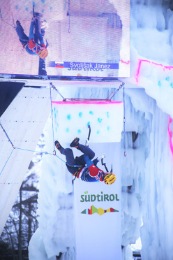 Ice Climbing World Cup 2016 Corvara: Slovenia's Janez Svoljšak, winner at Corvara and European Champion 2016