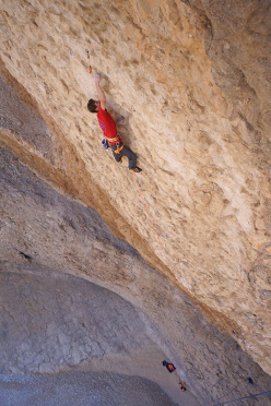 Read Macadam su The flow 7b+ a Wadi Bani Khalid, Oman