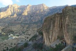 Sport climbing at Hadash, Oman
