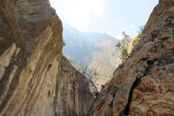 Climbing Psychology positive 8b at Hadash, Oman