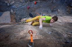 Read Macadam climbing New Bactun 8b at Hadash, Oman