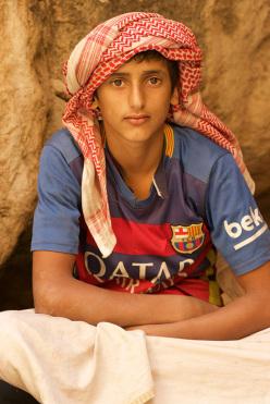 A local Omani boy
