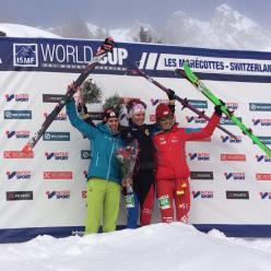 Ski mountaineering European Championship, Individual Race 05/02/2016: 1. Laetitia Roux 2. Jennifer Fiechter  3.Claudia Galicia Cotrina