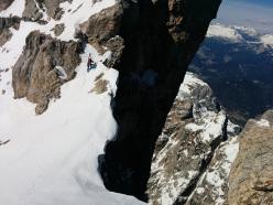 Prima discesa dalla Cima de Toni, Dolomit
