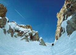 Monte Popera.  All'imbocco del Canalone Omicida