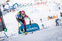 Ski mountaineering world Cup 206, 33° Transcavallo: French athlete Laetitia Roux on her road to victory in the Sprint Race