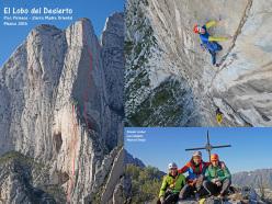 El lobo del desierto (7c, 470m, Luca Giupponi, Maurizio Oviglia, Rolando Larcher)