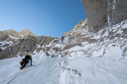 Jon Griffith and Andy Houseman during their ascent of Link Sar West, Karakoram (07/2015)
