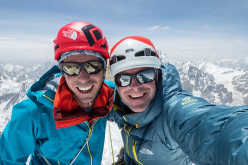 Andy Houseman and Jon Griffith during their ascent of Link Sar West, Karakoram (07/2015)