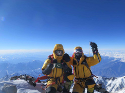Nanga Parbat in winter: Ali Sadpara and Simone Moro on the summit on 26/02/2016