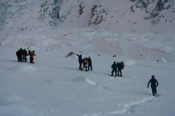 Nanga Parbat in winter: Simone Moro, Alex Txikon, Ali Sadpara and Tamara Lunger descend to Base Camp after their successful first winter ascent of Nanga Parbat