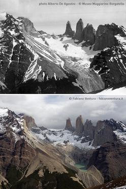 Parco Nazionale delle Torri del Paine, primi confronti fotografici sui ghiacciai della Patagonia