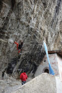 Adam Ondra climbing at Eremo di San Paolo, Arco