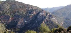 The panorama of the crags at Samugheo, Sardinia