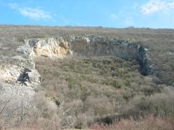 The sports crag Mišja peč in Slovenia