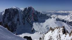 Voie Washburn (Les Z), Aiguille Verte North Face, Mont Blanc, skied by Yannick Boissenot, Marc Léonard, Stéphane Roguet