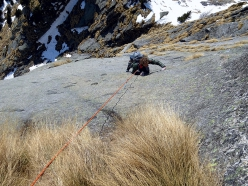 Delta Minox, Pilastro del Scingino, Cavalcorto, Val Masino, climbed on 20/03/2016 by Federica Mingolla, Luca Schiera and Andrea Gaddi