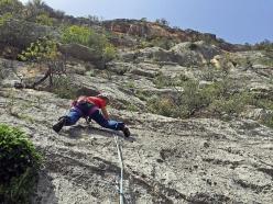 Cecilia Marchi climbing