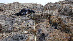 Omar Operandi sulla CIMA MARGHERITA PARETE S.O. Via Fessura Detassis - V° 280m