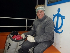 Claude Idoux rebolting the climbs at Kalymnos, Greece