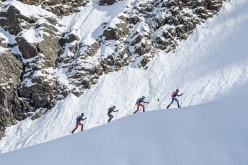 Damiano Lenzi & Matteo Eydallin and Pietro Lanfranchi & William Boffelli during the first Monte Rosa Ski Raid on 10/04/2016